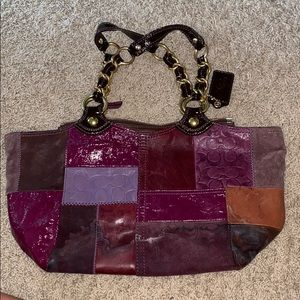 Coach Leather and Suede Purse